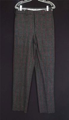 Vintage 1990 Woolrich Grigio Con Rosso Righe Plaid Lana Caccia Pantaloni 33 Vita
