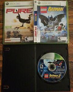 Lego-Batman-1-amp-Pure-Lego-Batman-2-DC-Super-Heroes-Xbox-360-Game-Lot-of-3