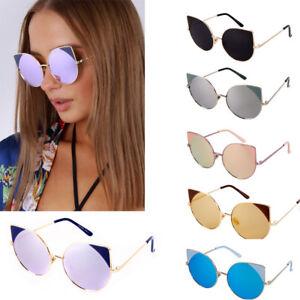 New Vintage Retro Round Cat Eye Sunglasses Ladies Mens Womens ... 36c061d8b89e
