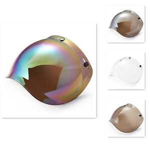 ILM-3-Snap-Bubble-Shield-Visor-for-Motorcycle-Helmet-Face-Lens-Rainbow-Clear