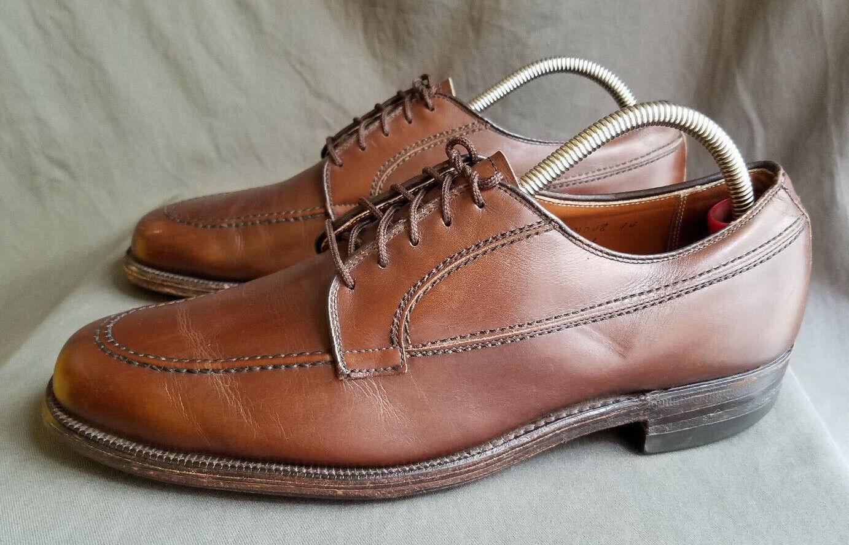Zapatos De Vestir para hombres Cuero Marrón ALDEN 736 Moc Toe Sz-10 Hecho en EE. UU.