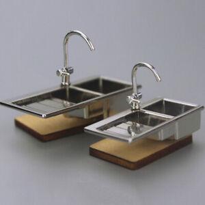 1-12-Dollhouse-Accessories-Miniature-Alloy-Faucet-Model-Toys-Water-Tap-Fauce-JR