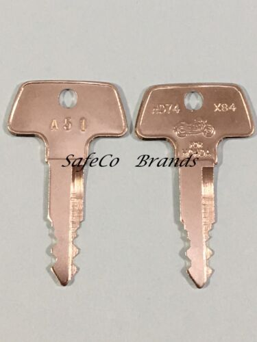 Honda Motorcycle Replacement Keys for Code Series A00 B99 2-Keys A99 /& B00