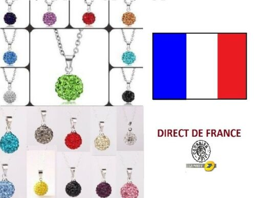 Lot de 10 colliers shamballa 10 mm revendeur NEUF bijoux FRANCE
