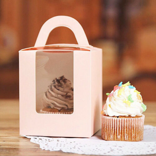 New Cupcake Boxes Paper Gift Box Cake Package Candy Wrapping Bag Kids Gifts