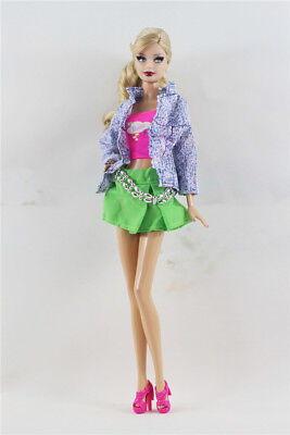 3 PCS Set Fashion Outfit  Jacket Top+vest+Skirt Suit FOR 11.5in.Doll Clothes