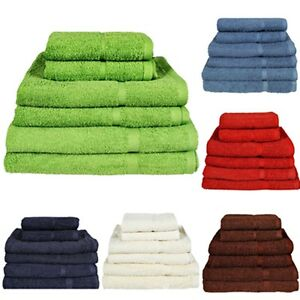 NEW-Egyptian-Cotton-Bath-Towels-Sheet-Set-Hand-Large-Bale-Luxury-Combed-Stripe