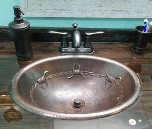 Bathroom Sink Barbed Wire