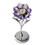 Crystocraft-Lilac-Flower-Crystal-Clock-Ornament-Swarovski-Elements-Gift-Boxed thumbnail 1