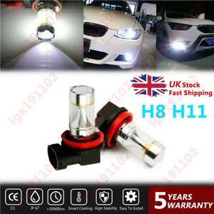 2PC-H8-H11-6000K-White-60W-CREE-Fog-Light-DRL-Bulb-For-Vauxhall-Astra-Mk5-Vxr
