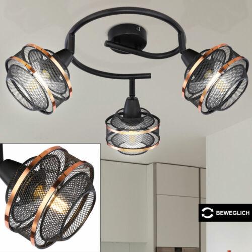 RETRO Decken Lampe Ess Zimmer Käfig Rondell Strahler Spot Leuchte beweglich GOLD
