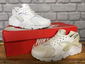 NIKE-HUARACHE-ALL-WHITE-TRAINERS-VARIOUS-SIZES-CHILDRENS-BOYS-GIRLS-MESH-amp-SATIN