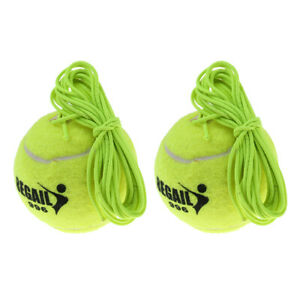 Green Tennis Ball and String Replacement For Tennis Trainer Practice