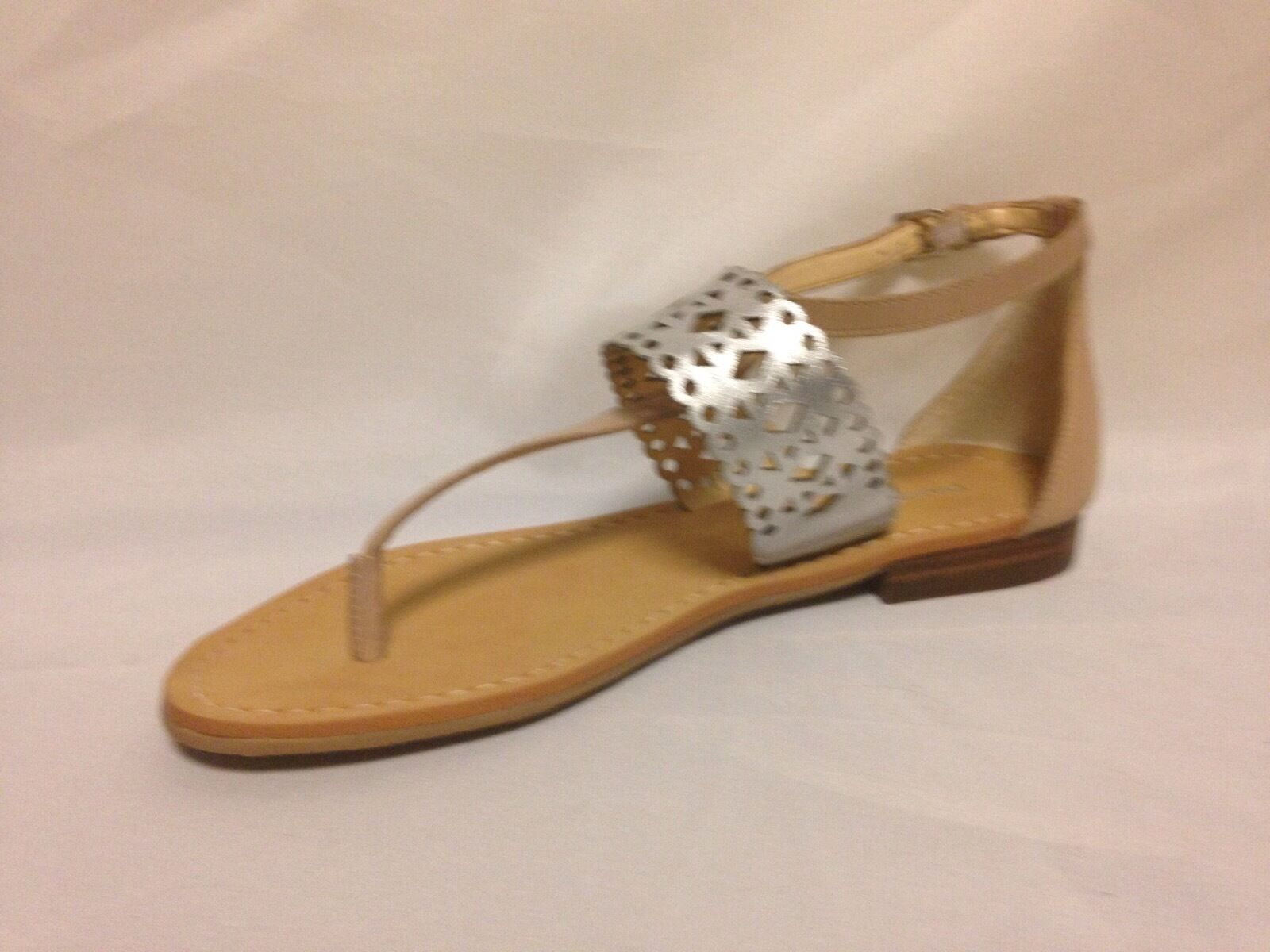 Ivanka Trump Pili Flat Sandale 8.5 M New Medium Natural Leder  New M w/Box 74fecc