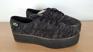 Rene 4 Grey Eu 37 Ladies Black Shoes amp; Lacoste Platform Uk FUgqxBfw