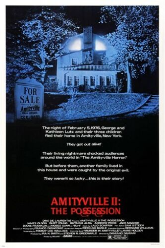 amityville 2 POSSESSION MOVIE POSTER horror drama mystery CULT STATUS 24X36