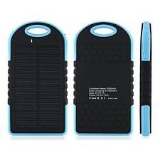 Real 5000 mAh Portable Dual USB Solar Power Bank - Lighter Than MI, Xiaomi 10400