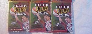 3 new 2000 FLEER ULTRA WNBA basketball PACKs - sealed