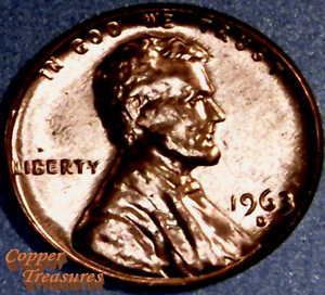 1963 D Lincoln Memorial Cent Gem BU