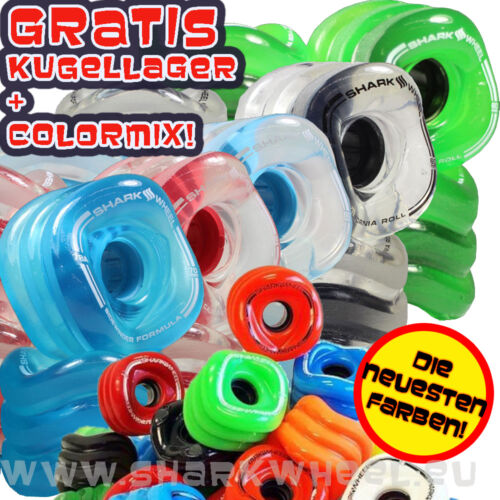 Shark Wheels BESTSELLER-Kugellager GRATIS! 60mm/78a Cruiser Penny Sharkwheel