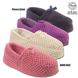womens ladies bow soft warm moccasin comfort fleece lined bedroom