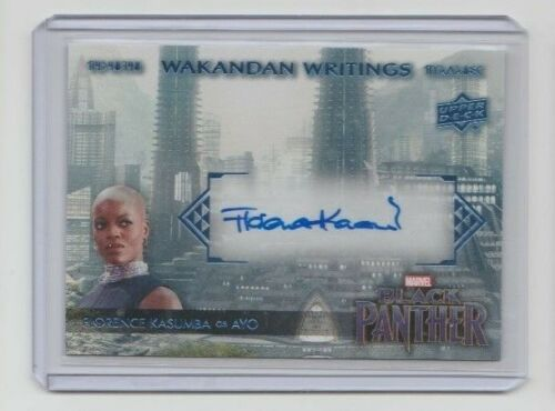 Marvel Black Panther Autograph Trading Card WWYO Florence Kasumba as Ayo A