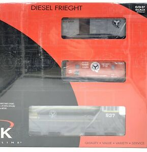 K-LINE-K2299-0537A-Belt-Railway-Chicago-Diesel-MP-15-Freight-Set-Boxcar-Caboose