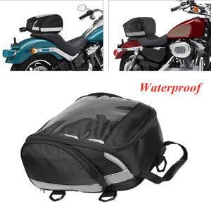 Black Motorcycle Motor 1680D Waterproof Nylon Tank Bag Back Seat Storage Bag