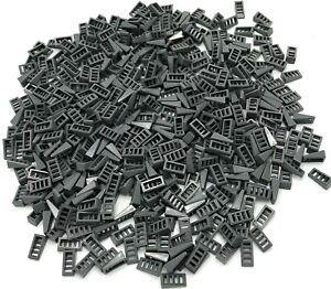 Lego Lot of 100 New Dark Bluish Gray Slope 18 2 x 1 x 2//3 with 4 Slots