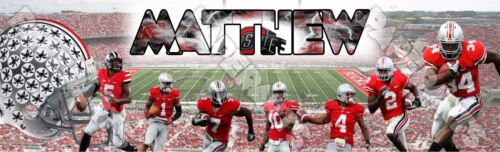 """Ohio State Buckeyes Poster Banner 30/"""" x 8.5/"""" Personalized Custom Name Printing"""
