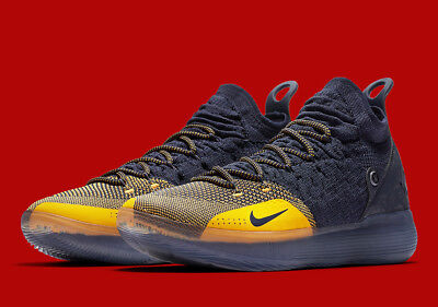 KD 11 Yellow Nike Zoom KD 11 Chinese Zodiac Blue/Yellow AO2604-400 Warriors ...
