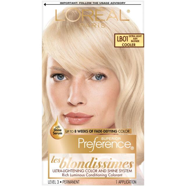 LOreal Paris Superior FadeDefy Shine Perm. Hair Color LB01 Ex Light Ash Blonde