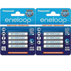 LOT-2-x-4-PILES-ACCU-ENELOOP-RECHARGEABLE-AAA-LR03-1-2V-750mAh-Ni-Mh-BATTERIE
