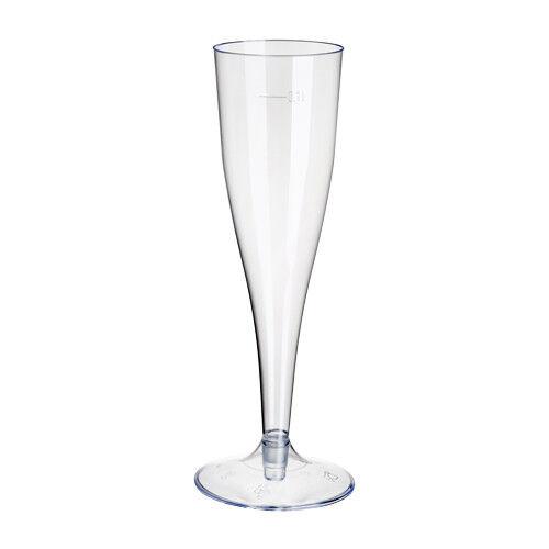 1000 Einweg Sektgläser 0,1l Champagnergläser Sektkelche Sektglas mit Steckfuß