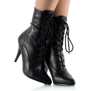 damen stiefeletten schwarz 10cm