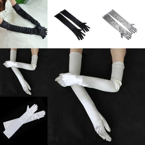 "21/"" Long Flapper Evening Opera Satin Retro Gloves for Women Elbow Length 1920s"