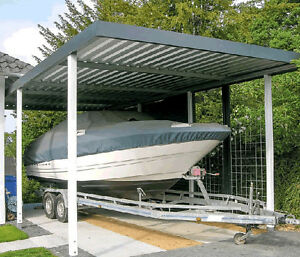 carport aus metall h he 251 cm breite 258xtiefe 524 cm. Black Bedroom Furniture Sets. Home Design Ideas