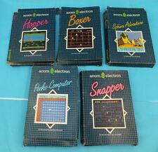 VINTAGE ACORN ELECTRON giochi in scatole originale 4 più uno sconosciuto.
