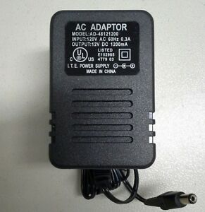 12V-DC-1-2A-UL-Wall-Power-Supply-5-5mm-2-1mm-Plug-Quality-New-Tip-Positive