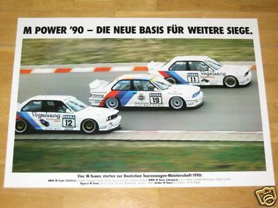 ORIGINAL VINTAGE MINT DIN A1 BMW M3 E30 POSTER 17 EUROPAMEISTER BMW 1988