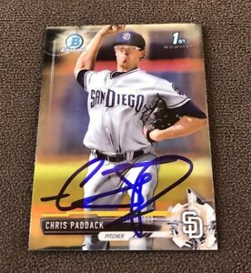 Chris-Paddack-Signed-2017-Bowman-Chrome-Mini-Autographed-Auto-Card-Padres-RC
