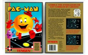 Pac-Man Tengen Nintendo Nes Cleaned & Tested Cart Only Authentic