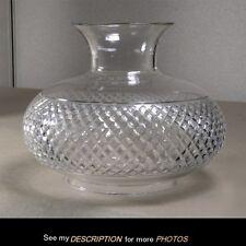 Antique Early Lamp SHADE Sinumbra Solar Astral Oil Kerosene Diamond Cut Glass