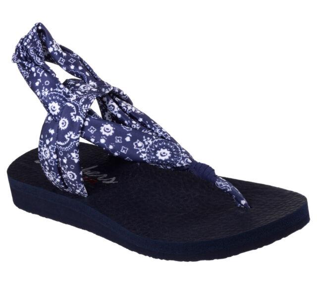 Skechers 38635 NVY Women's CALI: MEDITATION STUDIO KICKS Sandals