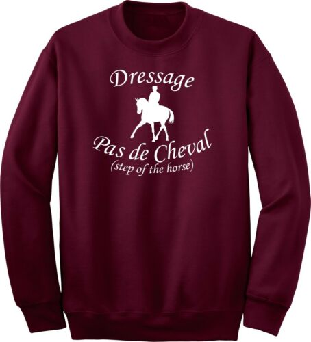 Step of the Horse Dressage Horse and Rider Sweatshirt Multiple Colors /& Sizes
