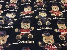 "Union Jack Teddy Bears Tapestry Cushion / Pillow Cover Sham 40cm 16""sq New"