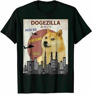 Dogezilla T-Shirt Funny DOGE MEME Shiba Inu Dog Vintage Men's Gift Unisex