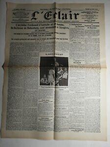 N431-La-Une-Du-Journal-L-039-eclair-29-juin-1914-l-039-archiduc-Ferdinand-d-039-Autriche