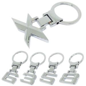 1Pc Alloy Car 1 3 5 6 7 8 X Logo Key Chain Key Holder Ring Cool For BMW