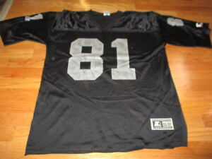 low priced b53e4 cef21 Details about Starter TIM BROWN No. 81 OAKLAND RAIDERS (Size 52 XL) Jersey